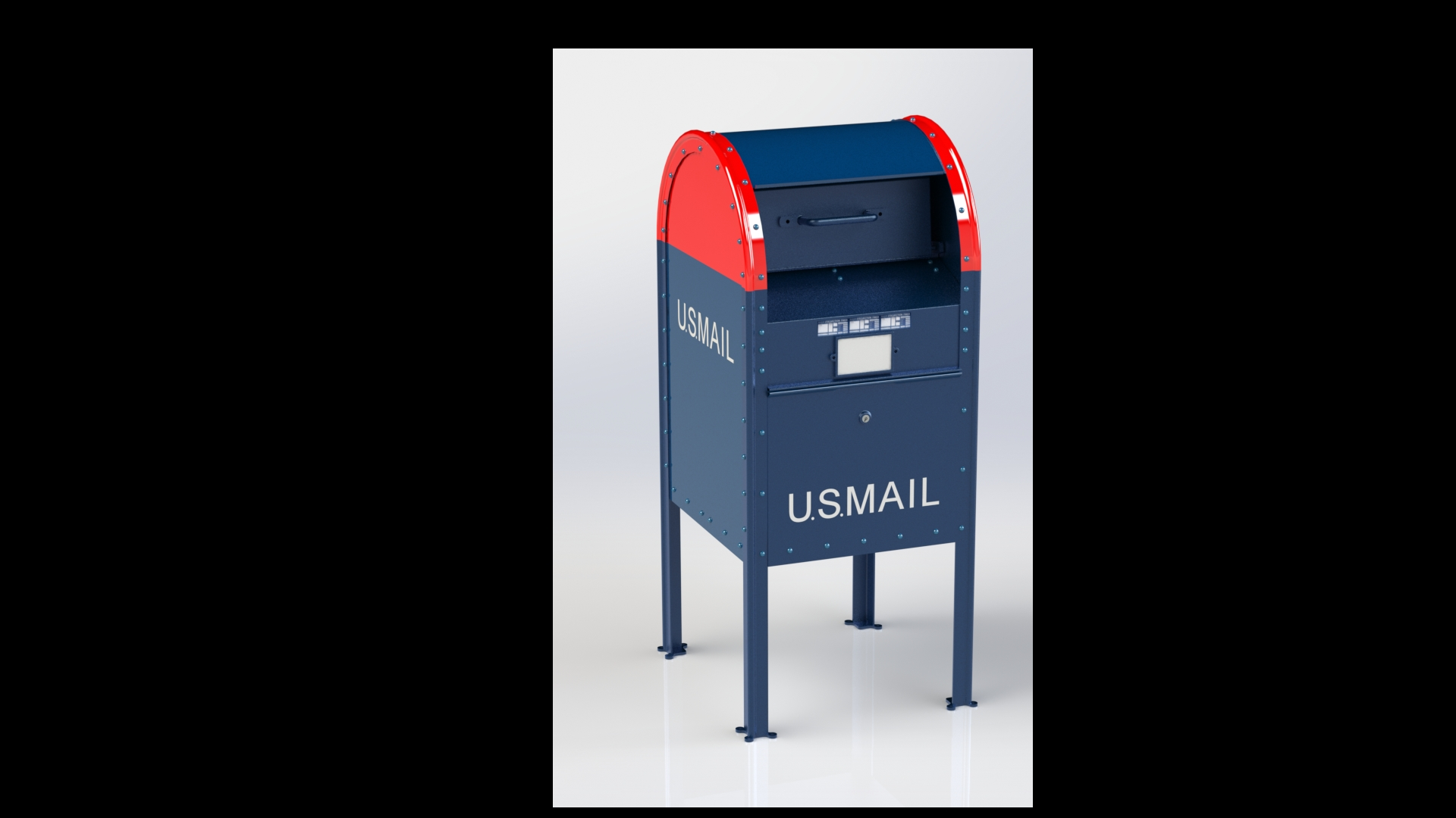 USPS%20Street%20Collection%20Mailbox%20in%20SolidWorks